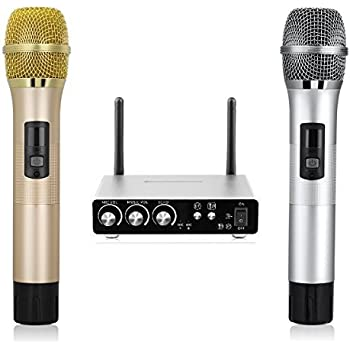 pyle pro pdwm2150 professional dual table top vhf wireless microphone system pyle. Black Bedroom Furniture Sets. Home Design Ideas