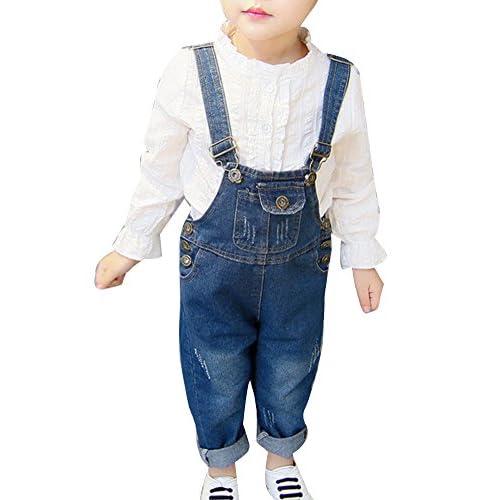 7f9c709e3 Monos De Bebés Pantalones Vaqueros Con Peto Para Verano Salopette Denim  Overall Mono Largo 50%