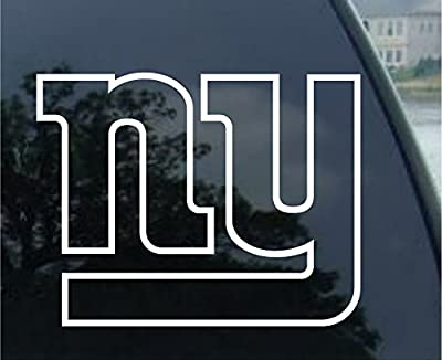 """Crawford Graphix NY Giants Decal (6"""", White)"""