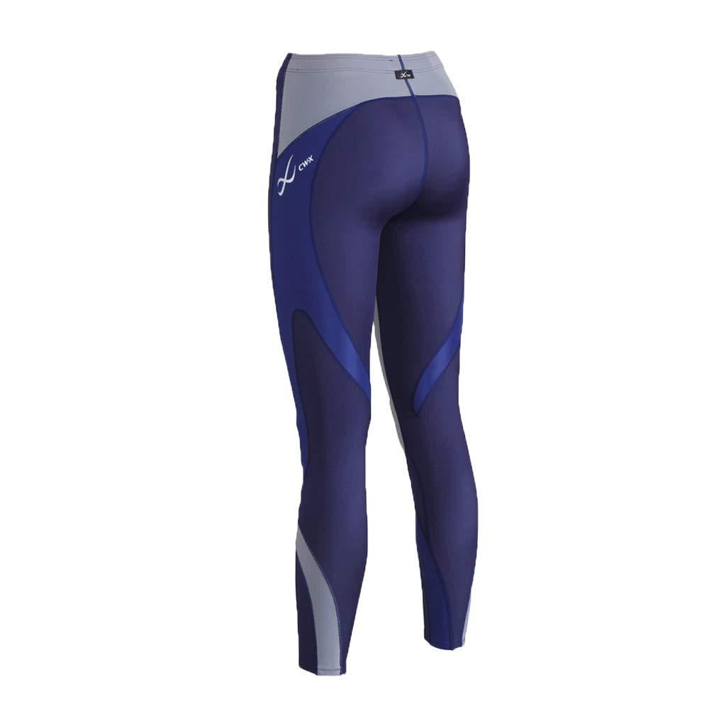 CW-X Women's Mid Rise Full Length Stabilyx Compression Legging Tights, Navy/Grey/Blue Limited Edition, X-Small by CW-X (Image #4)