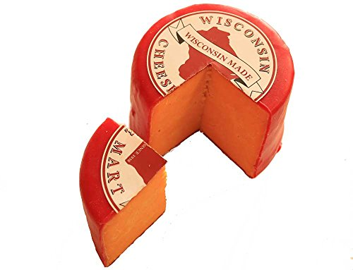 Cheddar Red Wax Wheel Three Pound by Wisconsin Cheese Mart (Image #1)