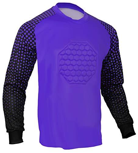 Soccer Goalie Shirt (Purple, AS (Chest - Elbow Goalkeeper