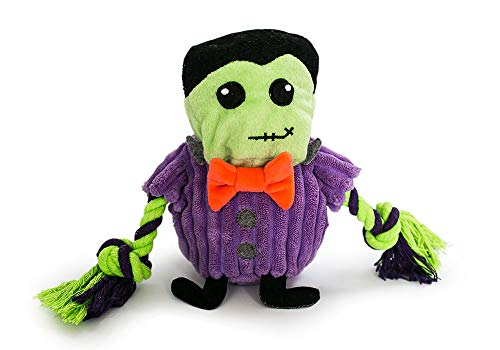 Fetch Pet Products Halloween Squeaky Dog Toy- Hatchables Inside-Out Interactive Hide and Seek Puzzle Plush (Frankenstein)