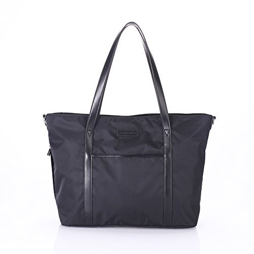 stellakim-by-perry-mackin-renee-water-resistant-nylon-diaper-tote-black