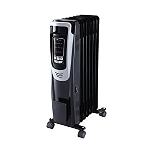 Homevision Technology ECH3015 Digital Oil Filled Heater with Remote, Black