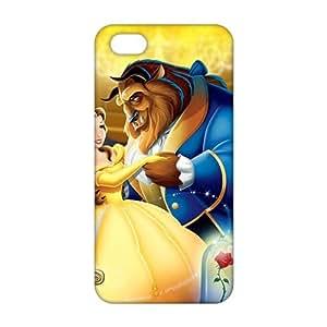 bela e a fera 3D For Iphone 5/5S Phone Case Cover