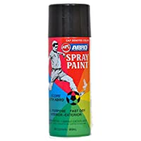 Abro ABS4 Color Spray Paint (400 ml, Matt Black)