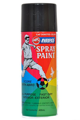 Abro ABS4 Color Spray Paint 400 ml Matt Black Amazonin Car