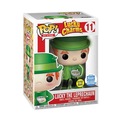 Funko Pop Ad Icons Lucky Charms Glow in the Dark Luck the Leprechaun Limited Edition Vinyl Figure -