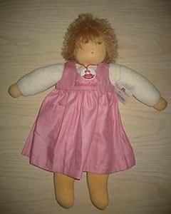 wonne niña color rosa Rock 46cm nanchen Natural muñeca