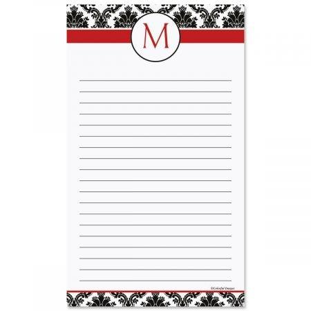Alexandria Initial Notepad- 50 Sheet Custom Memo Pad Custom 50 Sheet Notepads