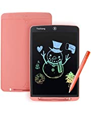 YUSHANG LCD-Schrijftablet,12Inch Kleurrijk LCD-Tekenbord Voor Kinderen,Draagbaar LCD-Schrijfbord,Slank LCD-Tablet Schrijven,LCD-Tekentablet Gebruikt Voor Schrijven,Leren,Schilderen,Notities(Roze12