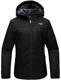 Women's Mountain Ski Jacket Windproof Fleece Snow Coat Rainwear Waterproof Hooded Warm Parka