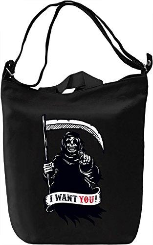 Grim reaper Borsa Giornaliera Canvas Canvas Day Bag| 100% Premium Cotton Canvas| DTG Printing|