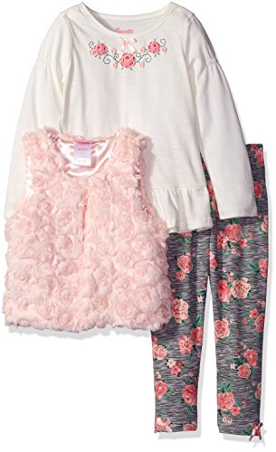 Rare Editions Little Girls Bicycle Kitten Applique Outfit Legging Set
