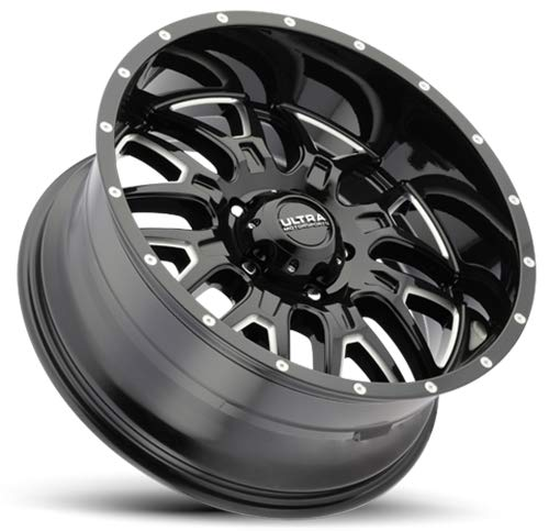 Ultra 203BM Hunter 20x9 6x139.7 -12mm Black/Milled Wheel Rim by Ultra Wheel (Image #1)