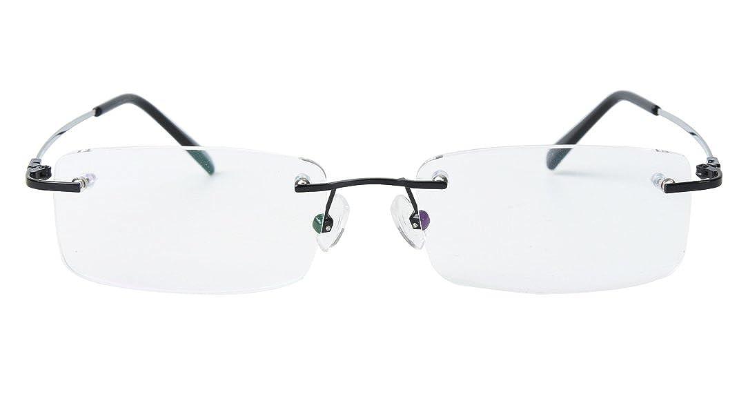 Amazon.com: Agstum Titanium Alloy Flexible Rimless Frame ...