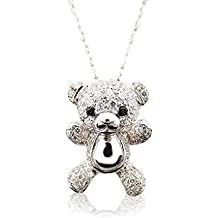 Morsca Sterling Silver 925 Pendant Necklace Jewelry Cute Animal Themed Gifts, 16 inch Rolo Chain Included
