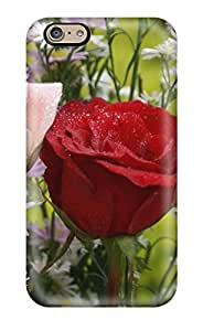 New Fashion Premium Tpu Case Cover For Iphone 6 - Beautiful Pink Rose