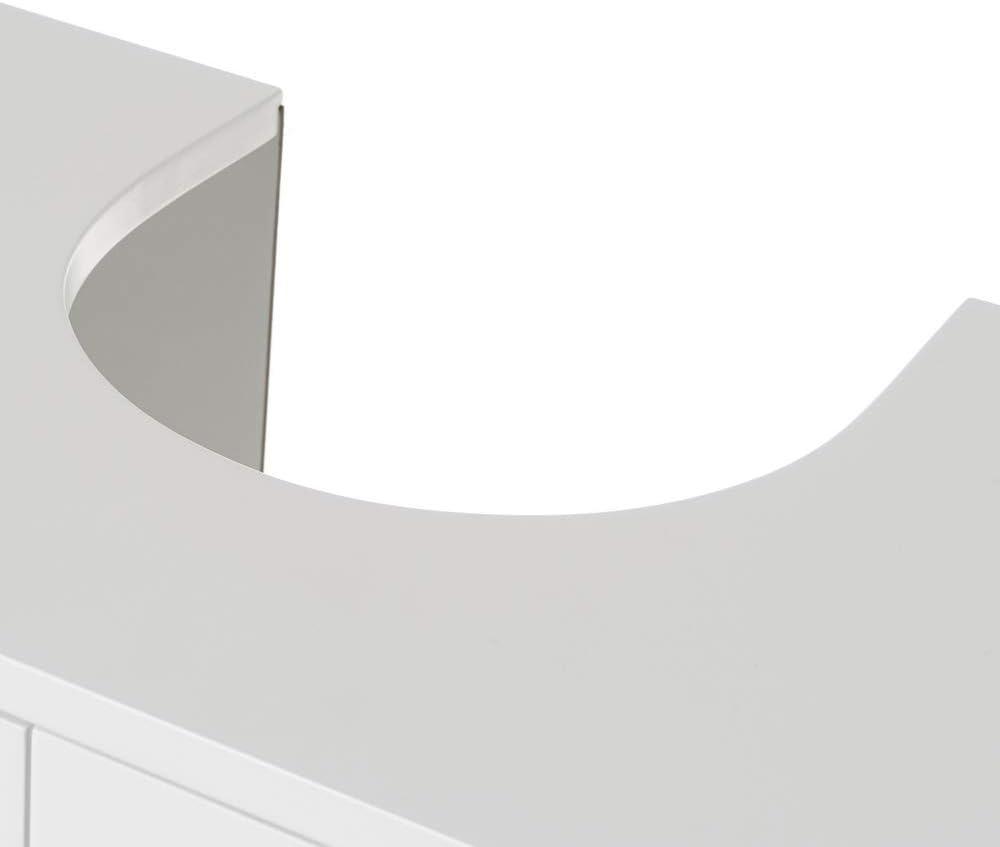 LOLAhome Mueble bajo Lavabo para encastrar de Madera MDF Blanco contempor/áneo de 56x30x60 cm