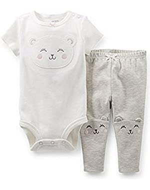Bodysuit and Pants Set (3 Months, White)