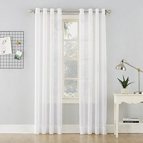 Crushed Voile - No. 918 Erica Crushed Sheer Voile Grommet Curtain Panel, 51