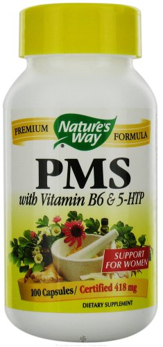 NATURE'S WAY PMS W/5-HTP & VITAMIN B-6, 100 CAP
