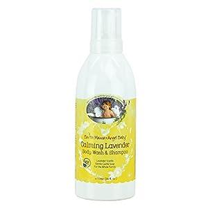 Earth Mama Angel Baby Calming Lavender Shampoo & Body Was, 34 oz (1 Litre) by Earth Mama Angel Baby