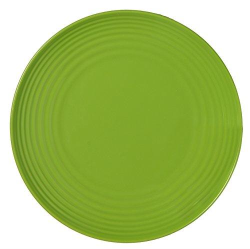 Melange 6-Piece  Melamine Salad Plate Set (Solids Collection ) | Shatter-Proof and Chip-Resistant Melamine Salad Plates | Color: Green