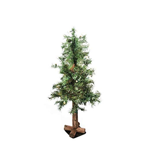 Artificial Christmas Tree. Tabletop Fake Xmas Green Tree 3 ft. Looks Real, Natural. Great for Indoor, Outdoor, Home, Patio, Gazebo, Backyard, Front Porch, Deck Holiday Season Party Decor