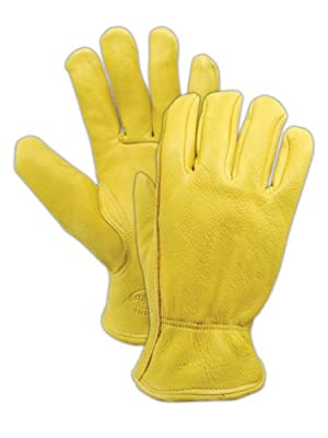 Magid TB1650ET-L Men's Deluxe Grain Deerskin Driver Gloves, Large