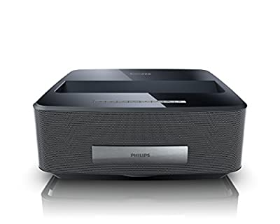 Philips Screeneo Smart LED Home Theater Ultra Short Throw Wireless Projector (Black)