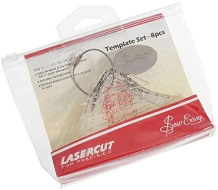 """Sew Easy Mini Diamonds 8 Piece Template Set Great Quilting Template 3//4/"""" to 3/"""""""