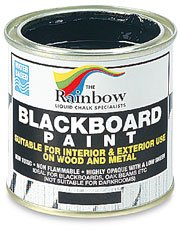 (Chalkboard Blackboard Paint - Brush on Wood, Metal, Glass, Wall, Plaster Boards Sign, Frame or Any Surface. Use with Chalk Pen Wet Erase, Safe and Non-Toxic. Matte Finish - Black 8.5oz - Up to 100sf)