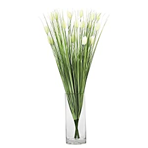 NCYP 3 Pcs Artificial Plants Grass Natural Looking Faux Fake Cattail Marsh Swamp Wetland Green Plant for House Home Office Room Gardening Indoor Decor Accessories 25.9 inches 106