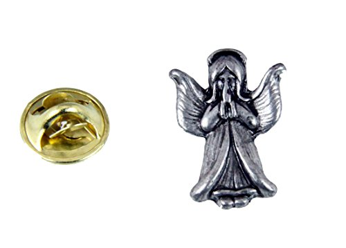 - 6030540 Guardian Angel Lapel Pin Brooch Faith Statement Watching Over You Praying