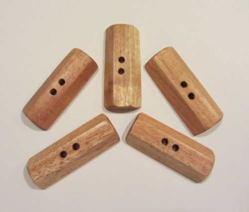 Subabul Wood 2 inch Rectangular Toggle Buttons