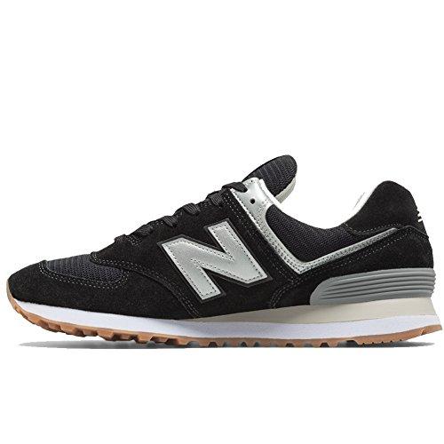 zwart Vintage New zilver Balance 574 Low top sneakers qRYzR