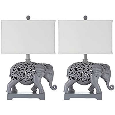 Safavieh Lighting Collection Hathi Sculpture Lt Grey 25.5-inch Table Lamp (Set of 2)