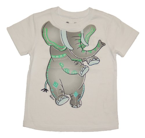 Peek-A-Zoo Toddler Become an Animal Short Sleeve T shirt - Elephant White (2T) -