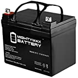 Mighty Max Battery ML35-12 - 12V 35AH U1 Deep Cycle AGM Solar Battery Replaces 33Ah, 34Ah, 36Ah brand product