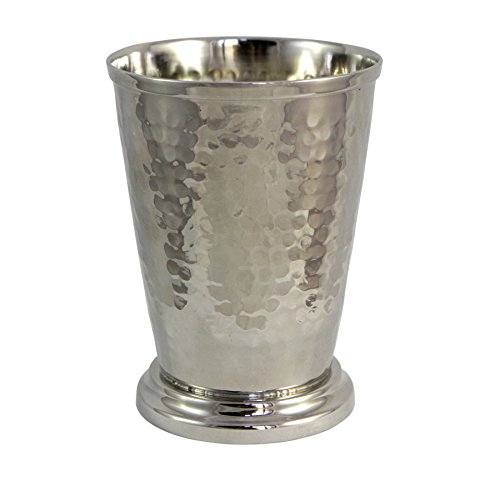 Hammered Mint Julep Cup - Nickel Plated - 12 (Sterling Cup)
