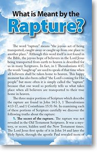 What is Meant by the Rapture? (Packet of 100)