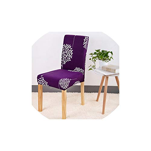 Kitchen Chair Cover Stretch Seat Covers Chair Dining Room Blue House Slipcover Chair Covers 1/2/4/6 Pcs,Color 7,4 Pcs Chair Covers