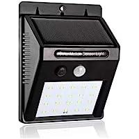 Luminaria Solar Parede 30 Leds Sensor de movimento Energia Lampada luz externa