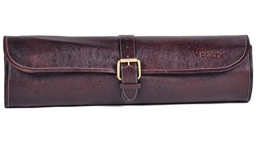 Boldric One Buckle Leather Knife Bag (Brown)