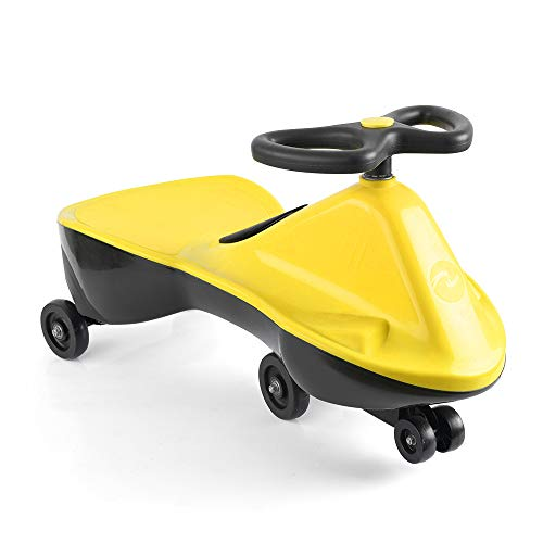 (Colibr¨ª Wiggle Car Swing Ride On Indoor Outdoor Safe Playing Swivel Toy, Ages 3 yrs and Up, No Batteries, Gears, or Pedals, Wiggle for Endless Fun (Yellow))