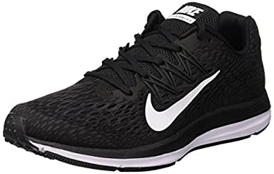 Nike Australia Men's Zoom Winflo 5 Running Shoes, Black/White-Anthracite, 8.5 US