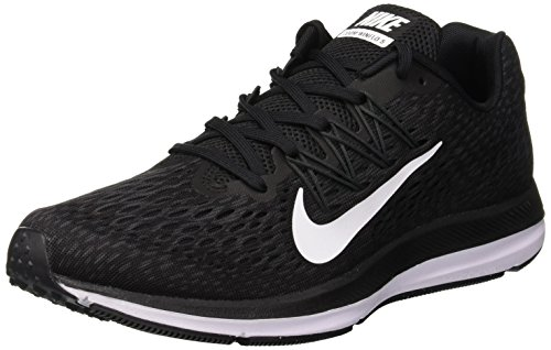 Nike- Air Zoom Winflo 5 Running Shoes Black/White/Anthracite Size 11 M