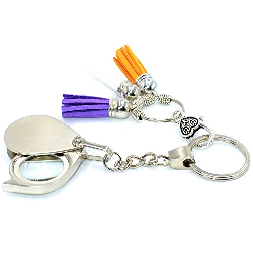 Portable Folding Magnifier Keychain